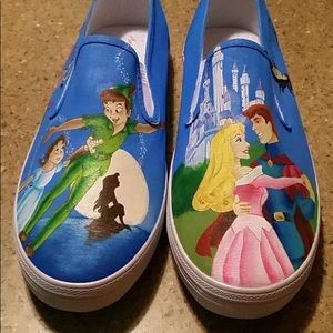 Hand Painted, one of a kind Disney shoes!